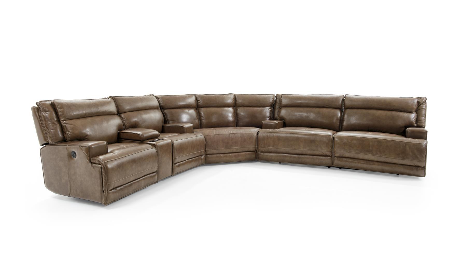 Futura Leather E12703 Pc Power Reclining Sect Sofa ...