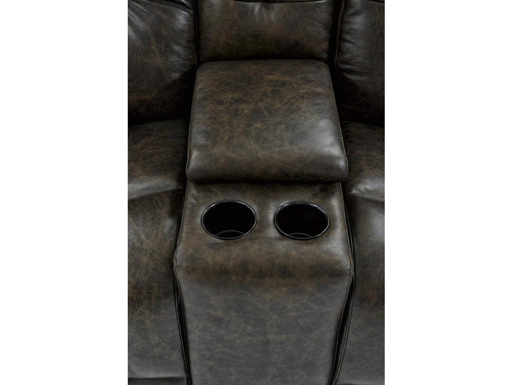 Futura Leather E1288Electric Motion Console Loveset