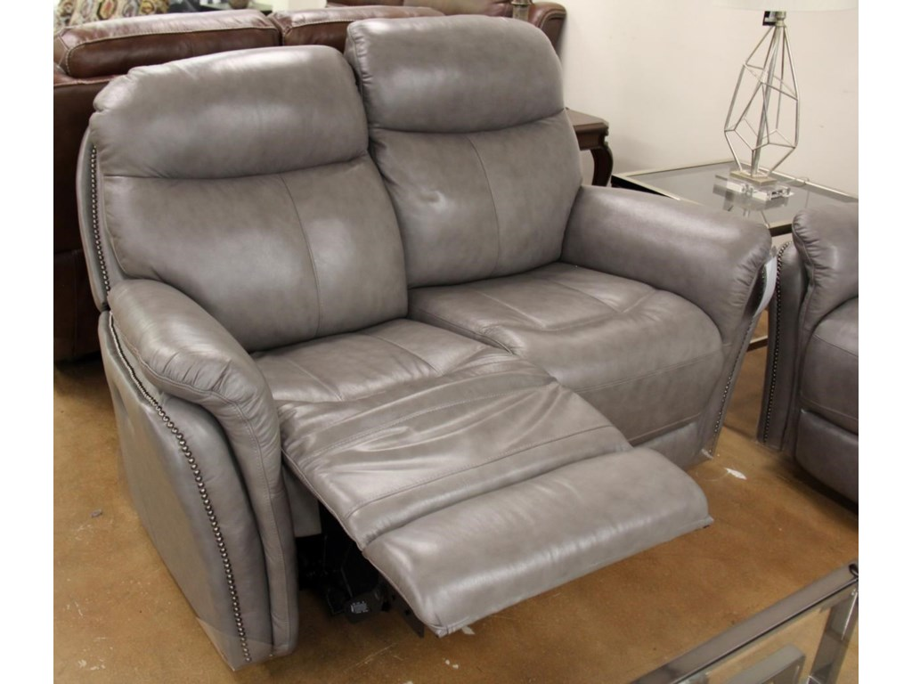 Futura Leather E1309Leather Manual Reclining Loveseat