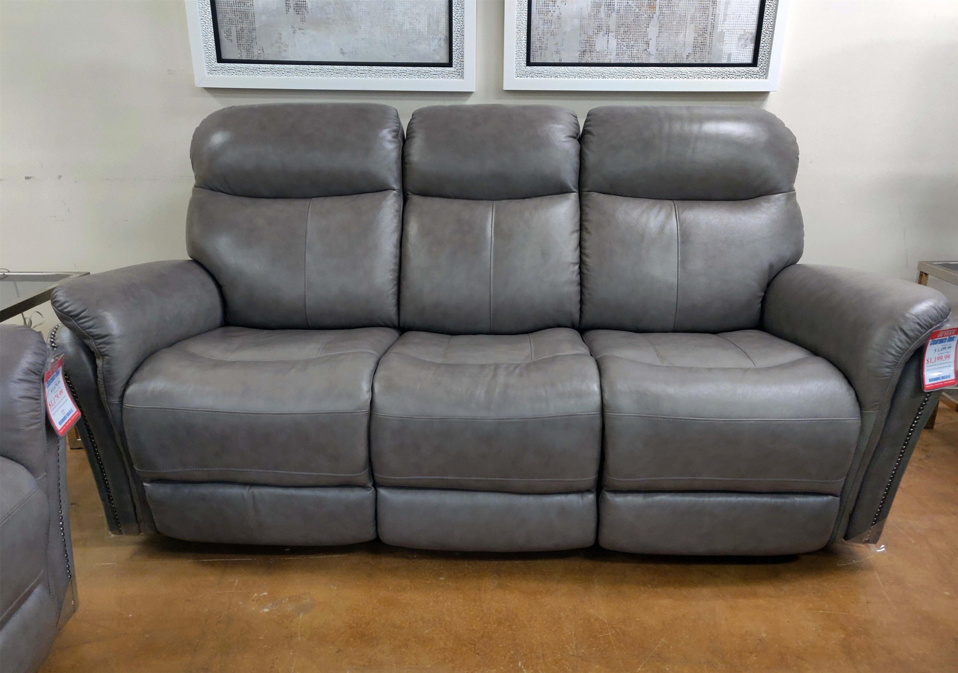 E1309 Leather Manual Reclining Sofa