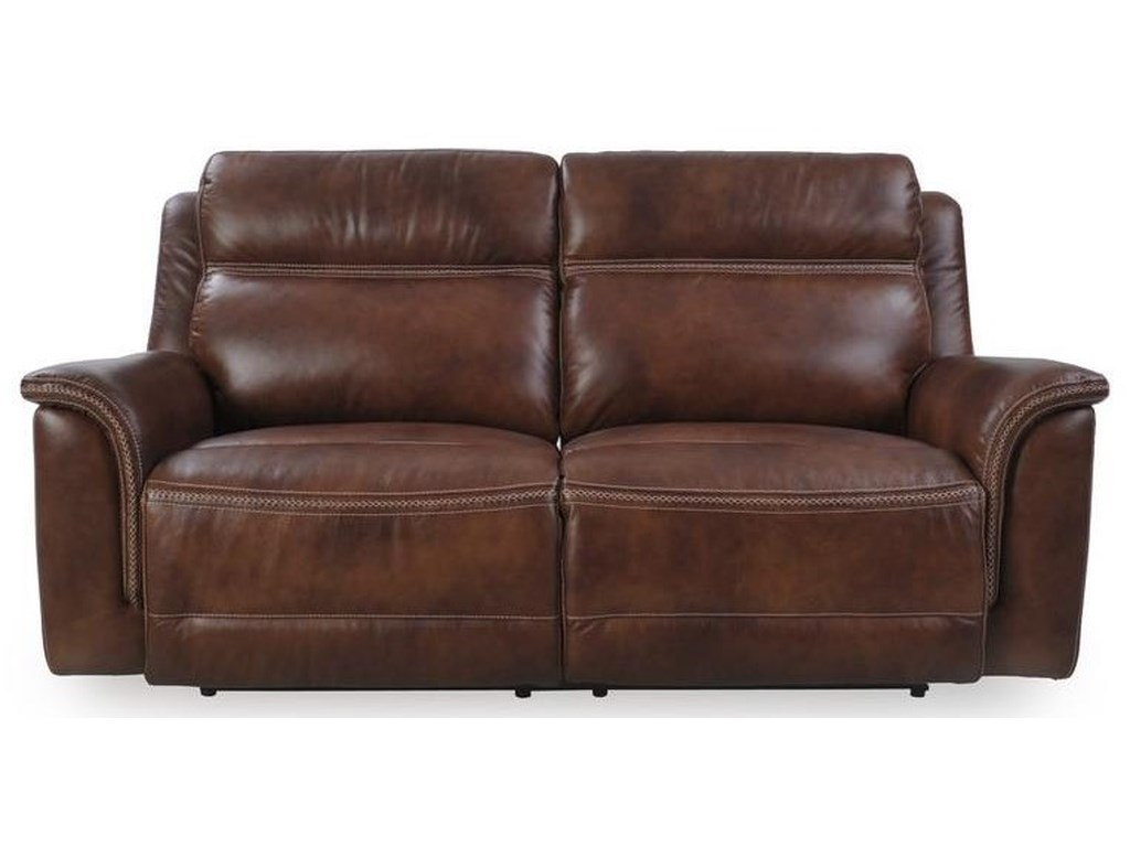 Futura Leather M1317Pacific Oak Leather Reclining Sofa