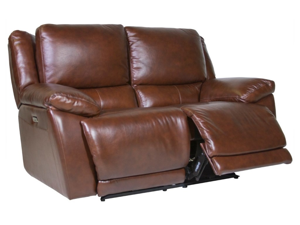 Futura Leather CurtisPower Reclining Loveseat