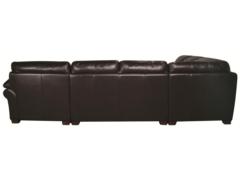Morris Home Furnishings EdisonEdison 100% Leather Sectional Sofa