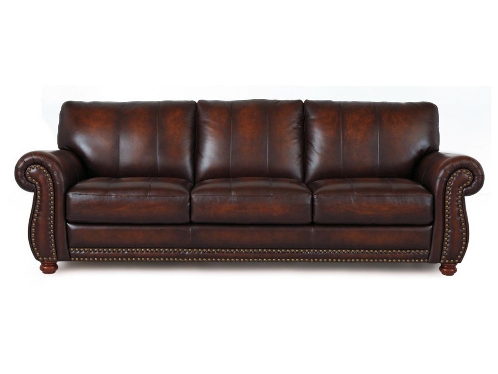 Futura Leather Futura Leather 7530 Traditional Leather Sofa with ...