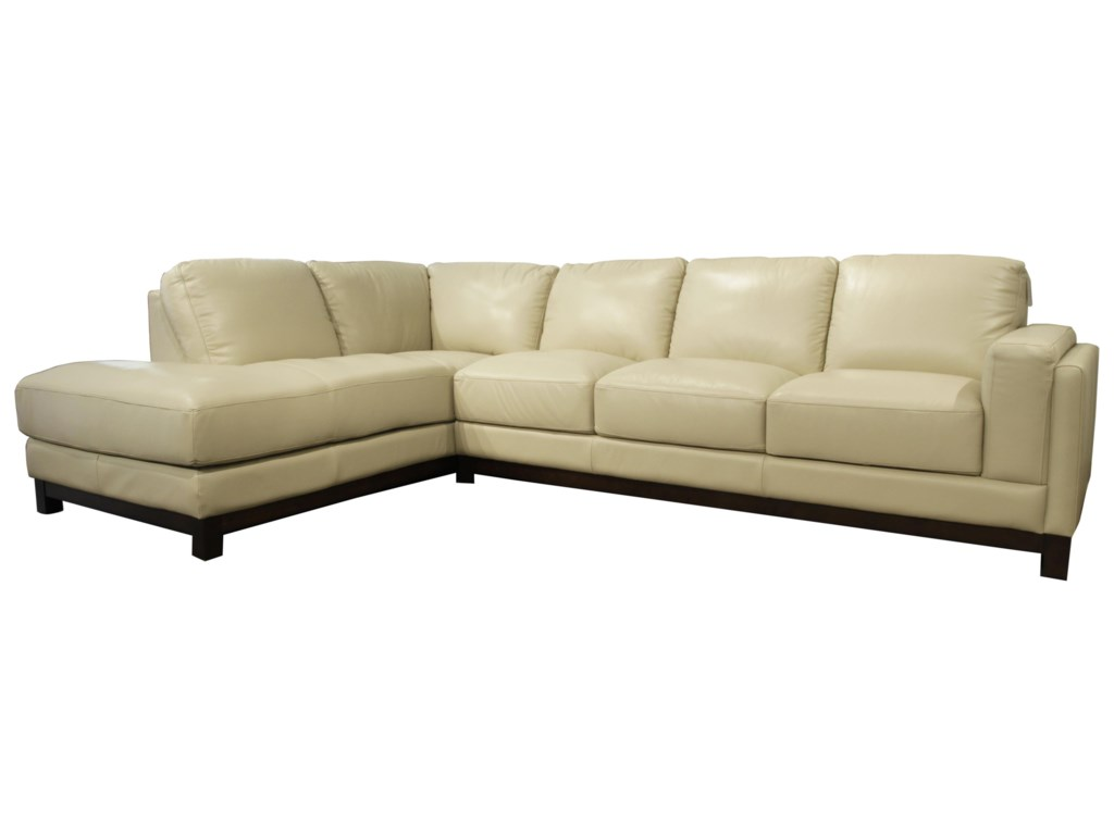 Futura Leather JacobSectional with Left Chaise