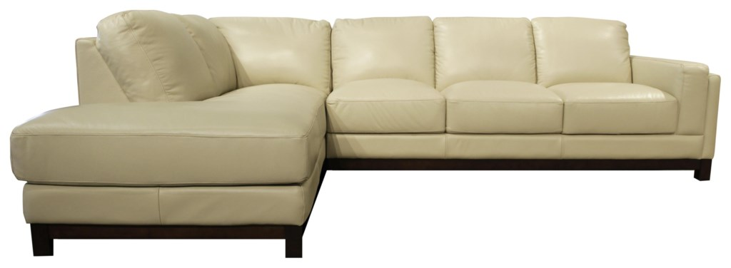 Futura Leather Jacob Sectional With Left Chaise Homeworld