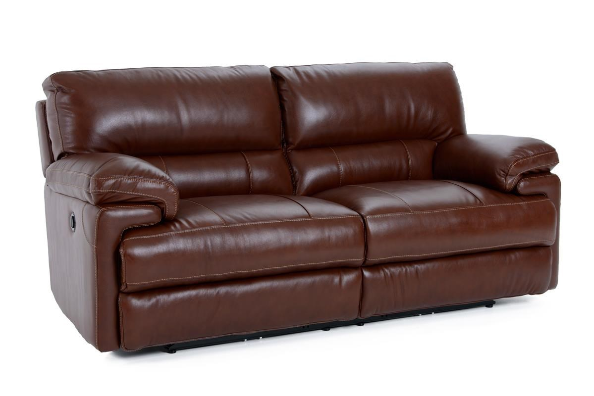Futura Leather E687 Electric Motion Sofa With Heavy Padded Seat Back    Baeru0027s Furniture   Reclining Sofas