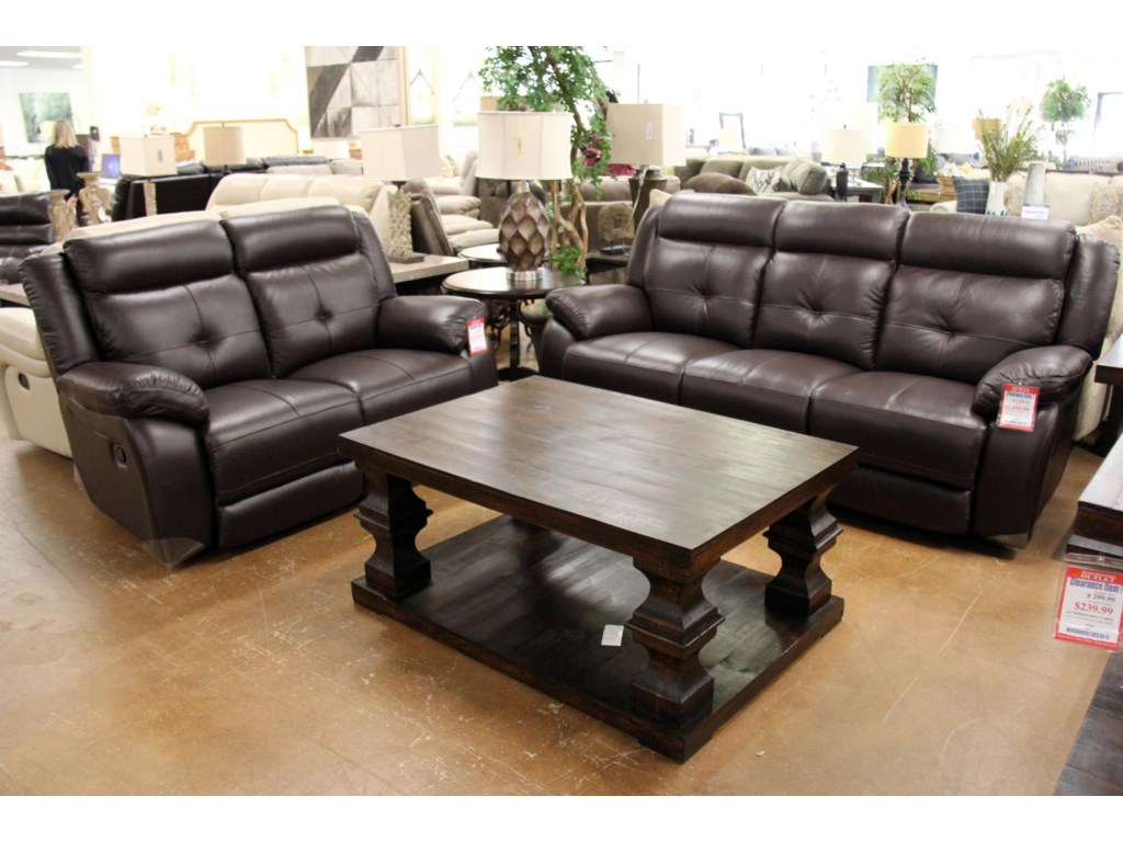 Futura Leather m771Omega Chocolate Leather Reclining Sofa