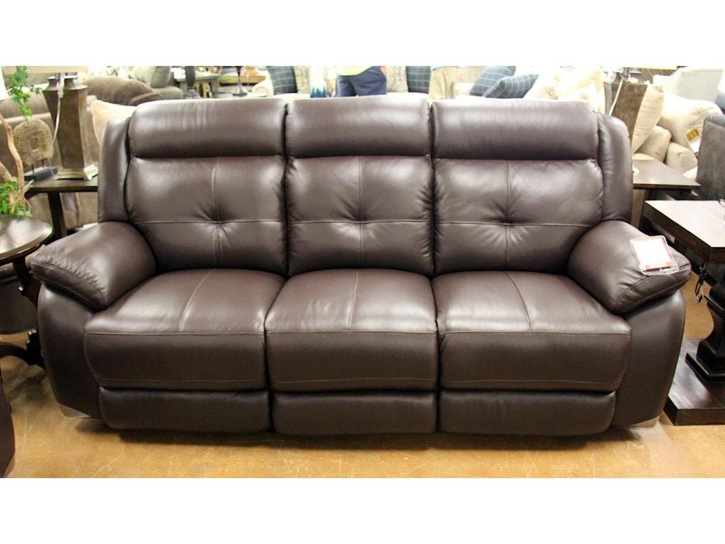 Futura Leather m771Omega Chocolate Leather Reclining Sofa