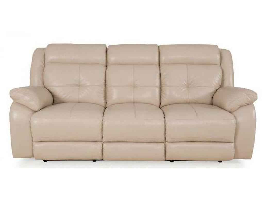 Futura Leather PebblePower Reclining Sofa