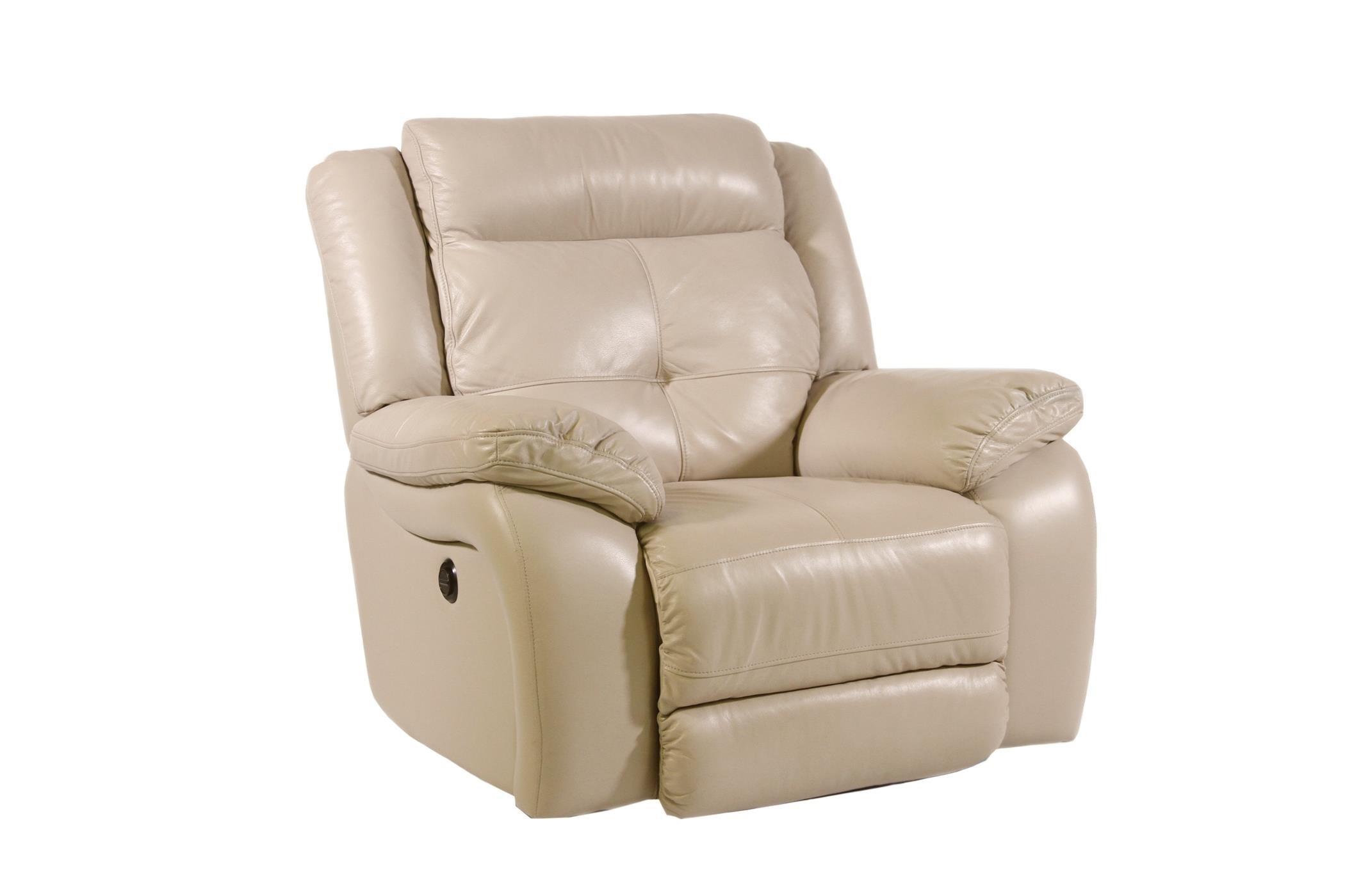 Superieur Futura Leather PebblePower Reclining Chair ...