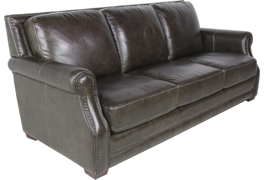 Sprintz Dante Brown Leather Sofa