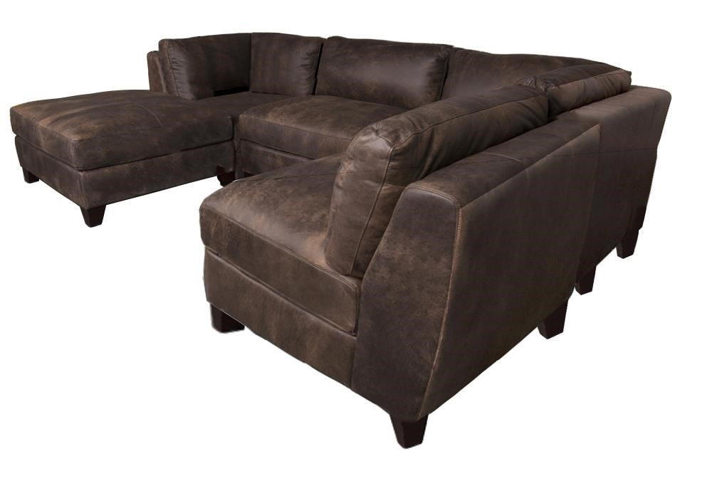 Morris Home Furnishings TheronTheron 100% Leather 5-Piece Sectional