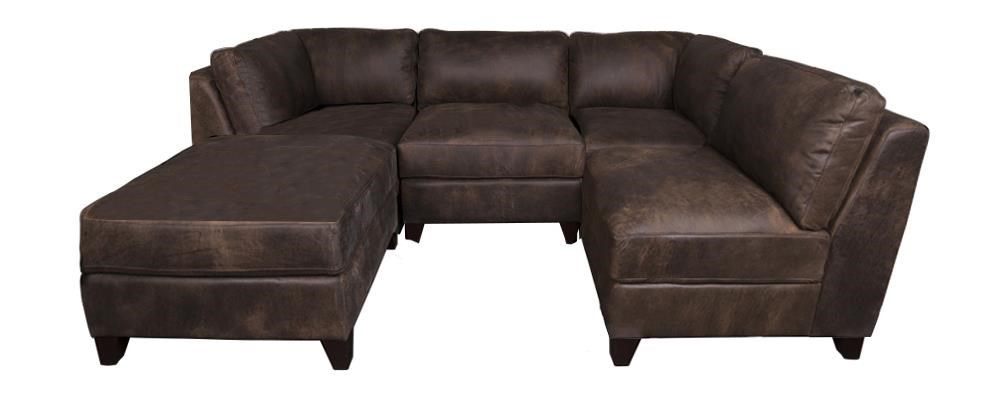 Morris Home Furnishings TheronTheron 100% Leather Sectional Sofa ...