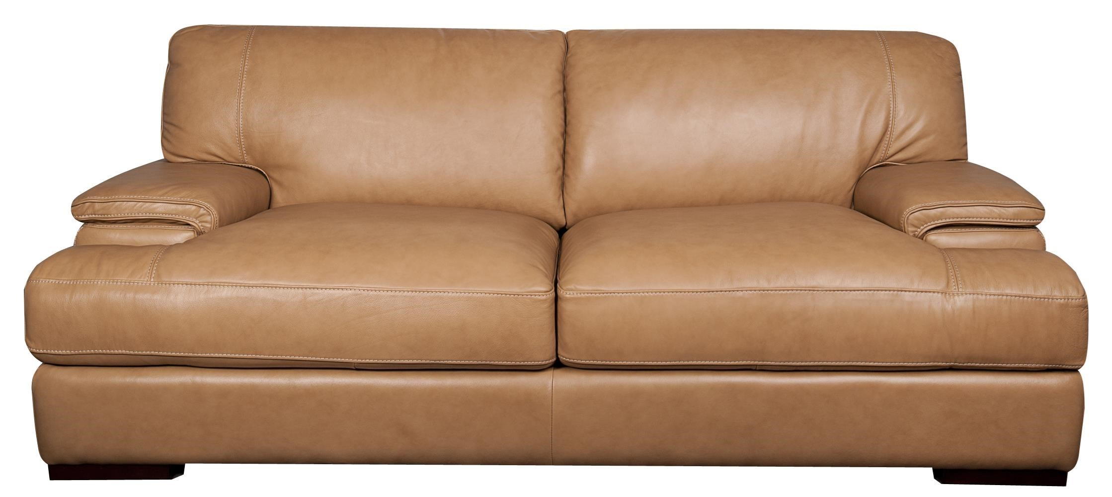 Morris Home Furnishings TitusTitus 100% Top Grain Leather Sofa ...