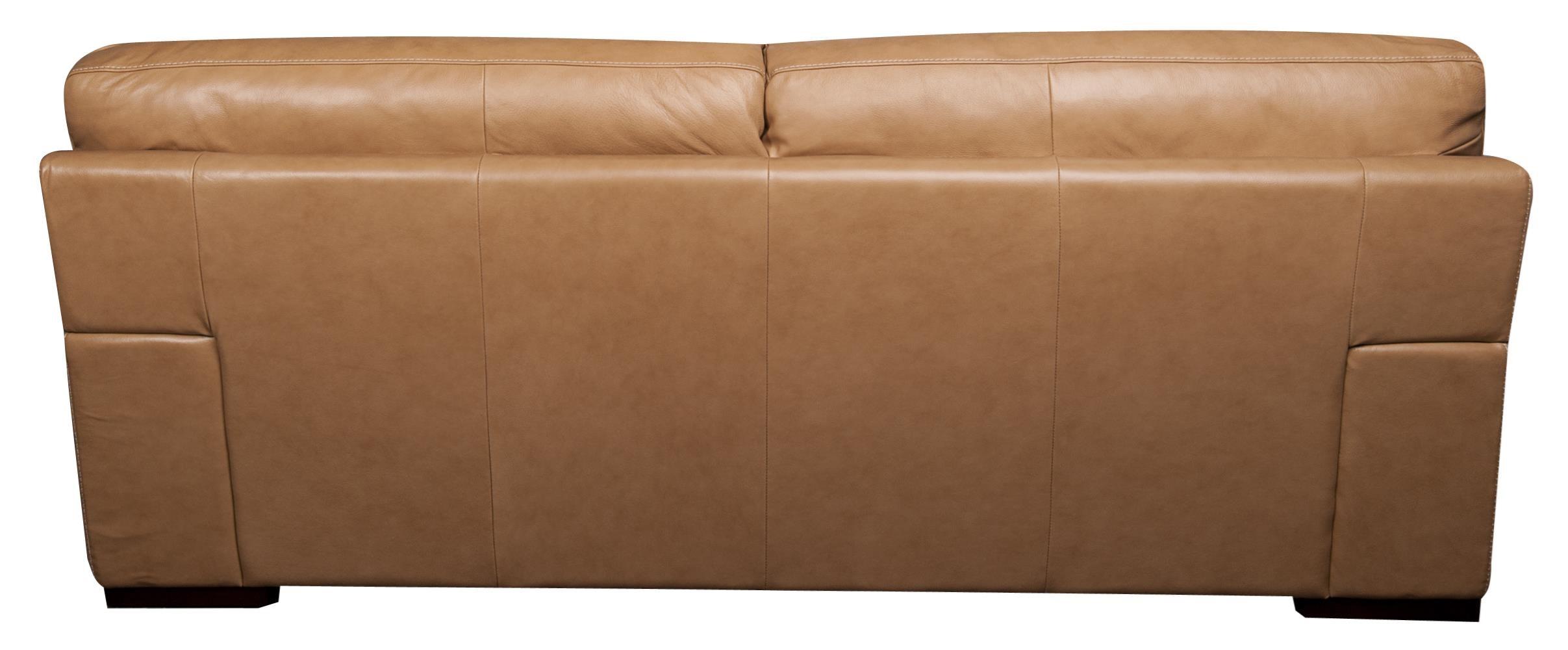 ... Morris Home Furnishings TitusTitus 100% Top Grain Leather Sofa