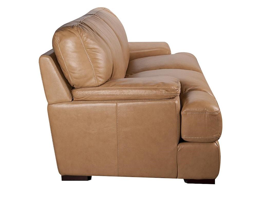 Morris Home Furnishings TitusTitus 100% Top Grain Leather Loveseat