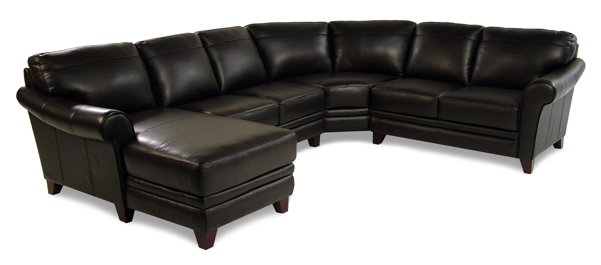 Tarrantino 4 Piece Leather Sectional W/ LAF Chaise By Loft Leather
