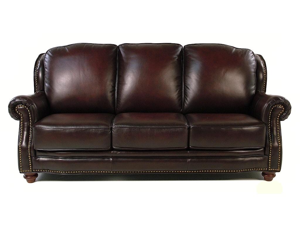 Loft Leather Wallingfordtraditional Sofa W Nailhead Trim