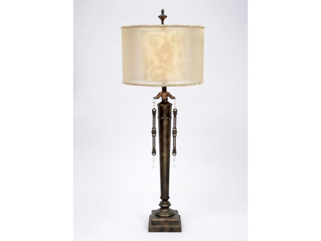 Gallery Designs Lighting Table LampGold Organza Shade Table Lamp