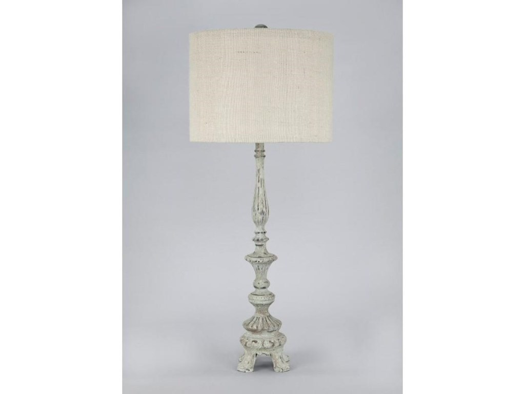 Gallery Designs Lighting Table LampBeige Textured Fabric Shade Table Lamp