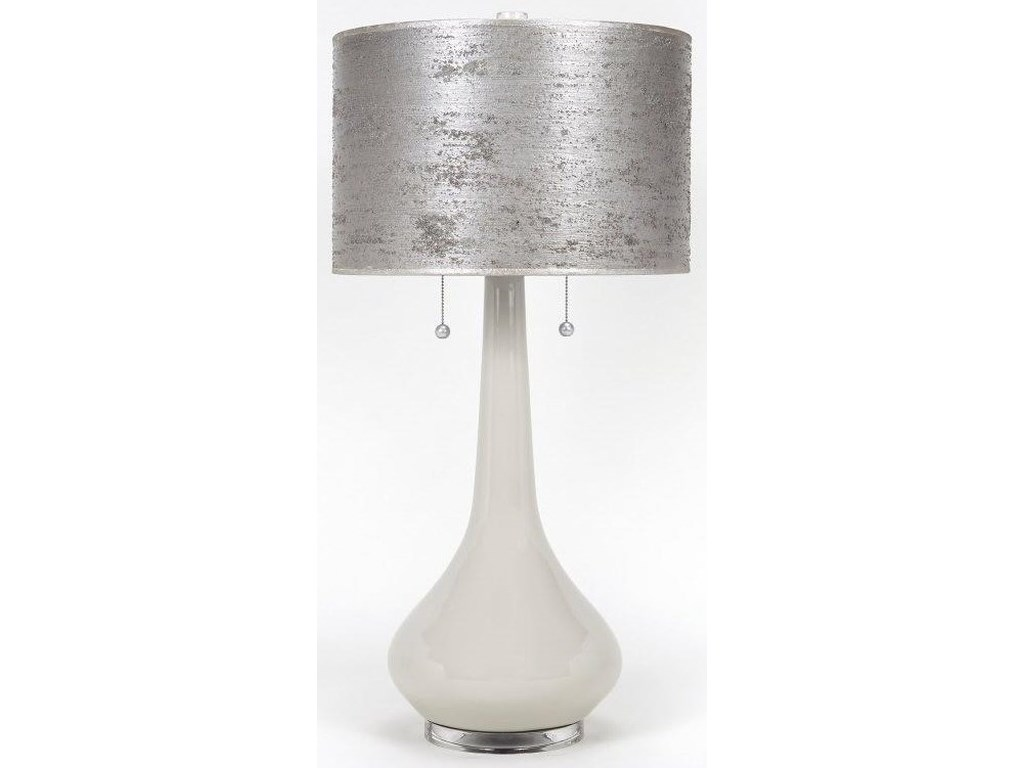 Gallery Designs Lighting Table LampHandpainted Silver Leaf Lamp