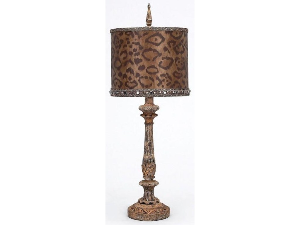 Gallery Designs Lighting Table LampCheetah Table Lamp