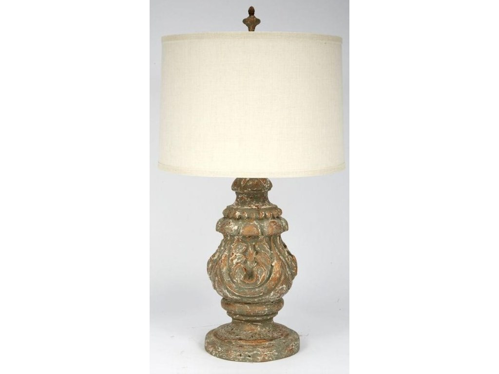 Gallery Designs Lighting Table LampAged Gold Smoked Truffle Table Lamp