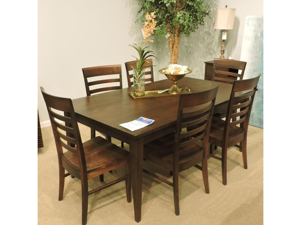 Greenbrier ClearanceBrooklyn Dining Leg Table, Server and 6 Chai
