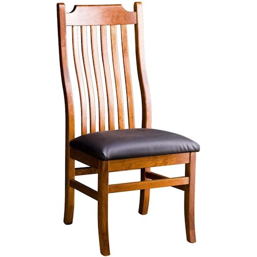 Greenbrier Dining Madison Side Chair with Leather Set
