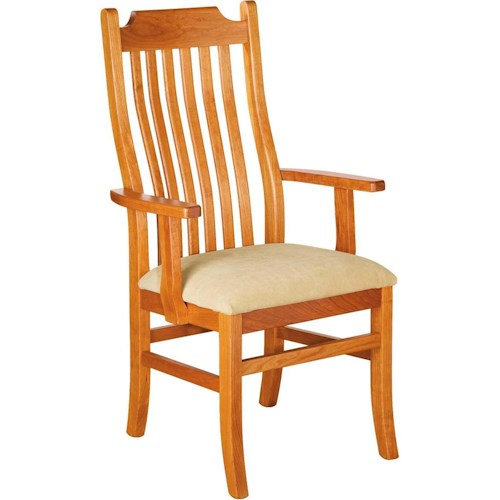Greenbrier Dining Madison Arm Chair with Upholstered Seat