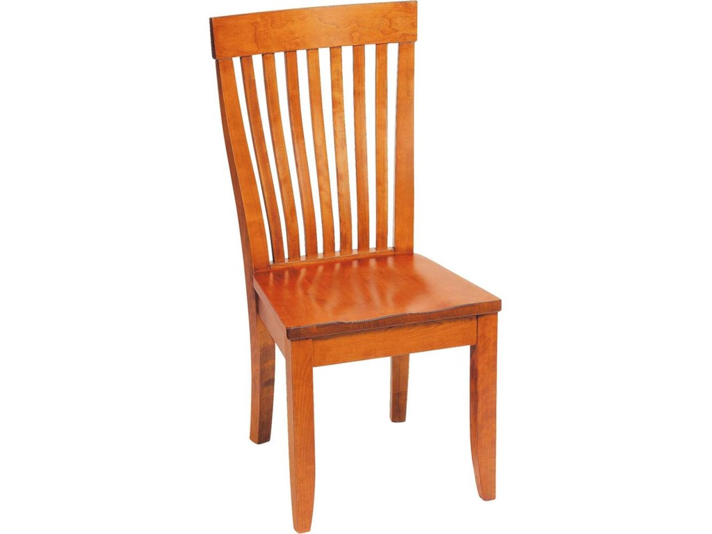 Greenbrier DiningMonterey Side Chair with Wooden Seat