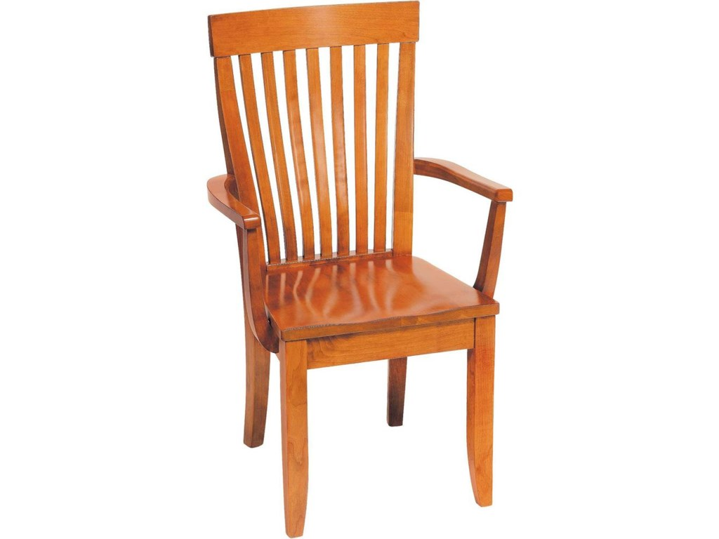 Greenbrier DiningMonterey Arm Chair with Wooden Seat