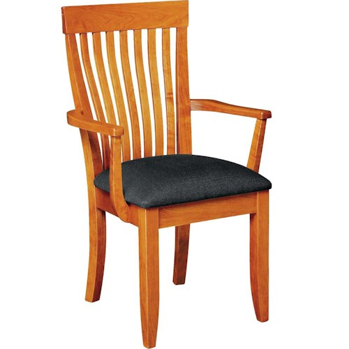 Greenbrier Dining Monterey Arm Chair with Upholstered Seat