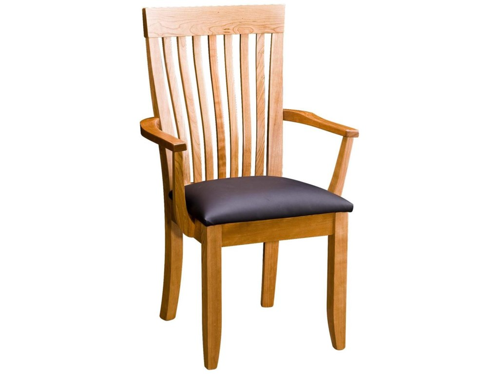 Greenbrier DiningMonterey Arm Chair with Leather Seat