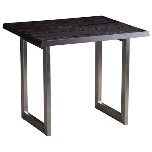 Greenbrier St. Blane End Table with Stainless Steel Base