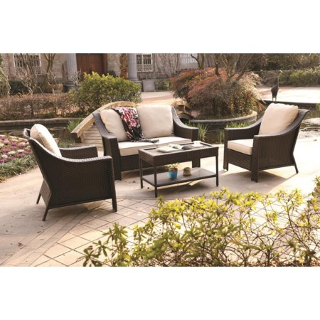 4 Piece Outdoor Chat Set