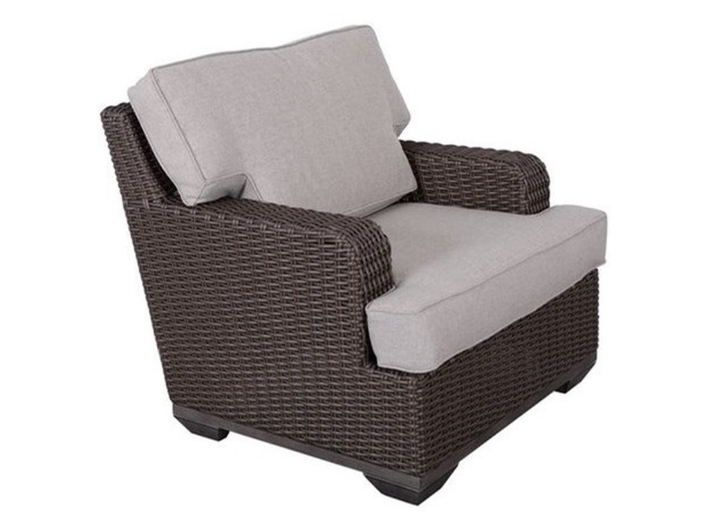 Gatherings Brookstone Outdoor Club Chair With Cushion Belfort
