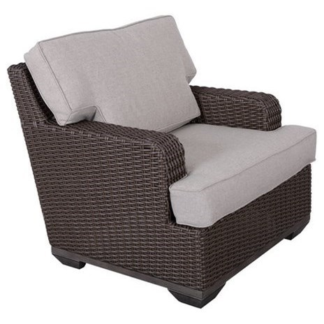 Gatherings Brookstone Outdoor Club Chair with Cushion  sc 1 st  Belfort Furniture & Gatherings Brookstone Outdoor Club Chair with Cushion | Belfort ...