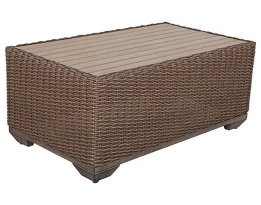 Gatherings Brookstone Outdoor Coffee Table With Polywood Top - Polywood coffee table