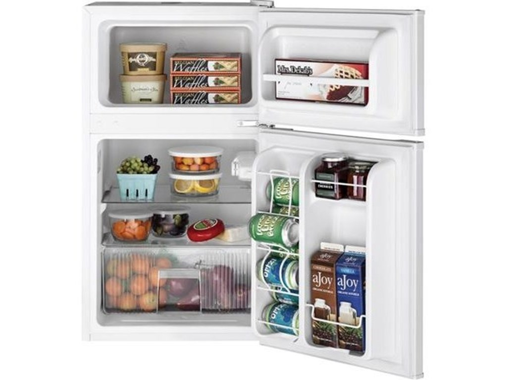 GE Appliances Compact RefrigeratorsGE® Double-Door Compact Refrigerator