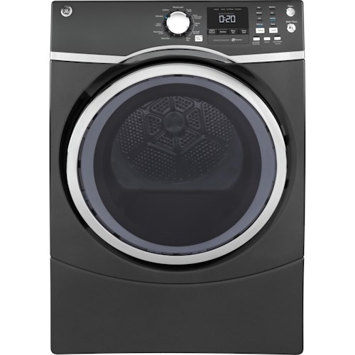 GE Appliances Electric Dryers - GE 8.3 Cu.Ft. capacity RightHeight™ Design Front Load electric ENERGY STAR® Dryer with Steam