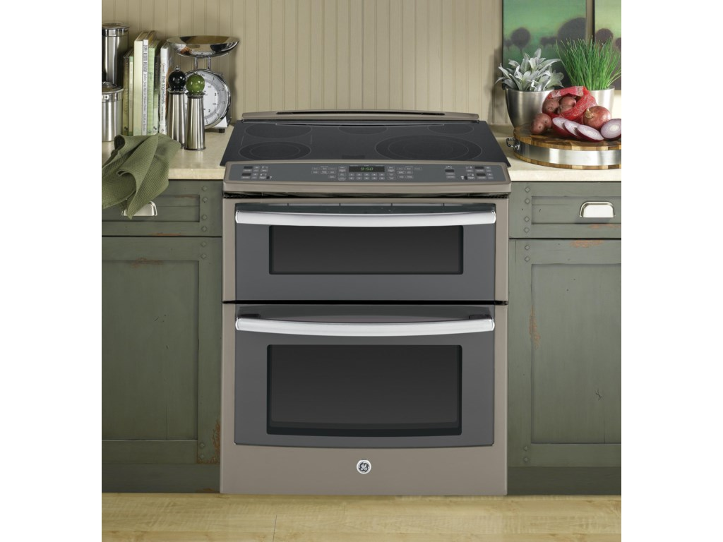 Ge Profile Series 30 Slide In Double Oven Electric Convection Range By Liances