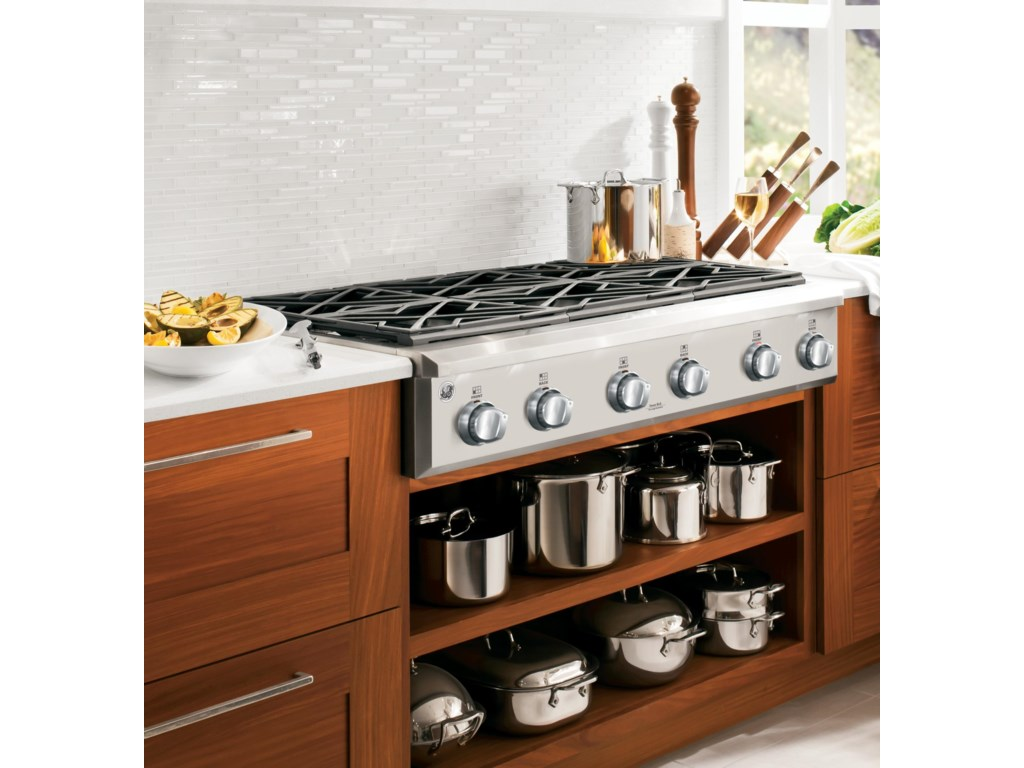 Ge Cafe Series 36 Gas Cooktop With 6 Burners By Liances Cooktops Collection