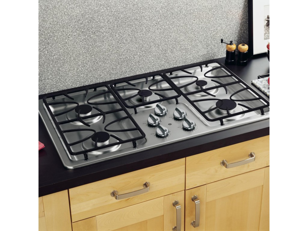 36 Built In Gas Cooktop With 5 Sealed Burners By Ge Liances Cooktops Collection