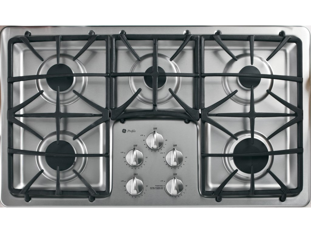 36 Built In Gas Cooktop With 5 Sealed Burneratte Deluxe Cast Grates By Ge Liances