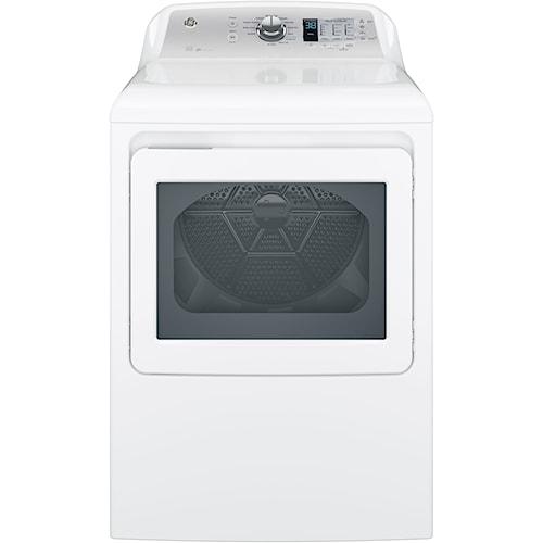 GE Appliances Gas Dryers 7.4 cu. ft. Aluminized Alloy Drum Gas Dryer with HE Sensor Dry