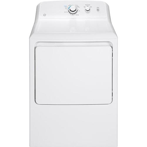 GE Appliances Gas Dryers 6.2 Cu. Ft. Capacity Aluminized Alloy Drum Gas Dryer
