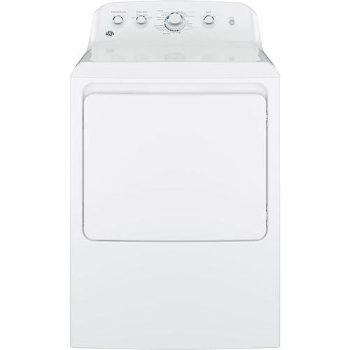 GE Appliances Gas Dryers 6.2 cu. ft. Aluminized Alloy Drum Gas Dryer with HE Sensor Dry