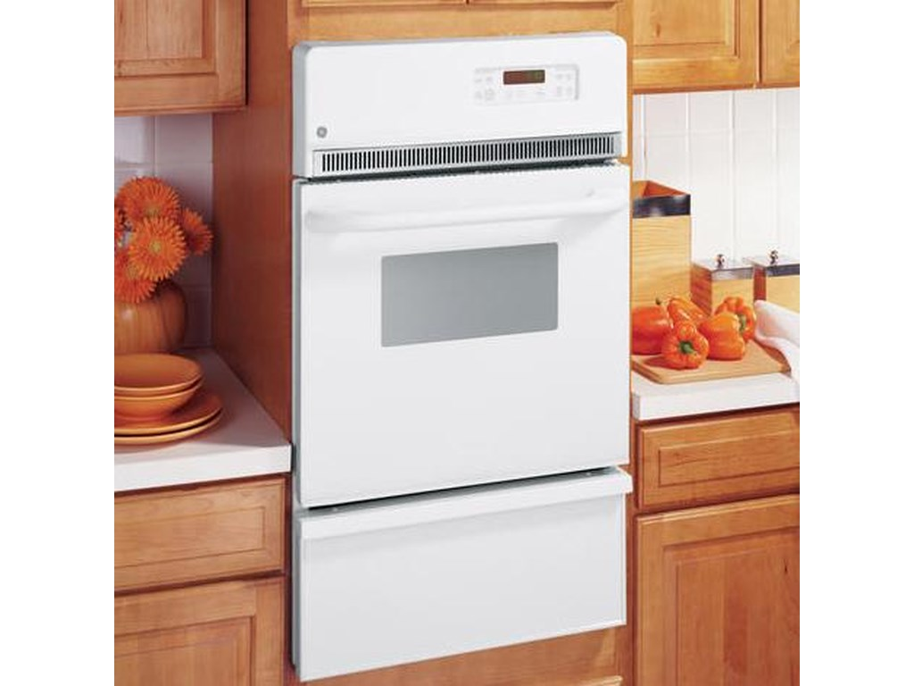 24 built in single gas self cleaning oven by ge appliances
